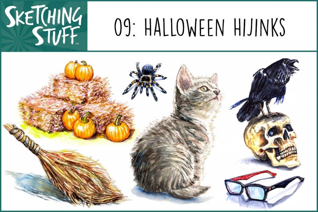 Sketching Stuff Episode 09 Halloween Hijinks - Doodlewash