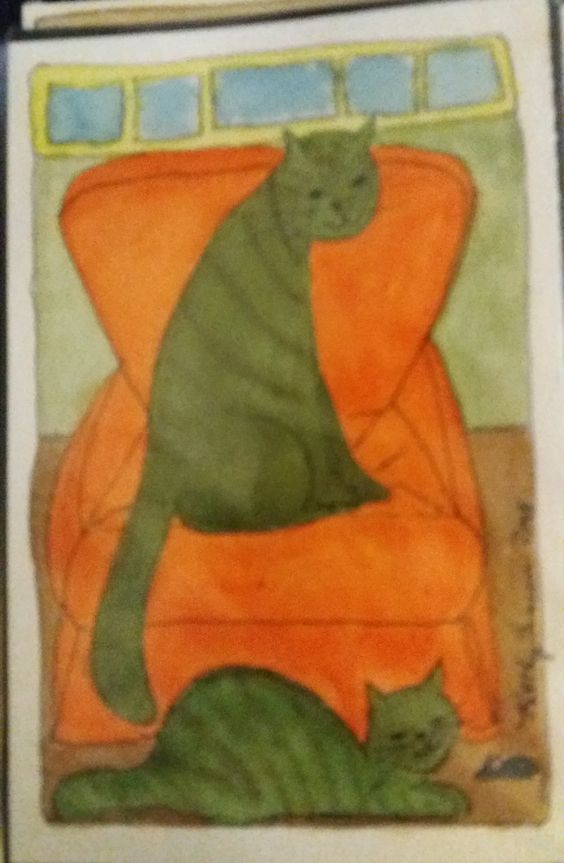 Two Green Catz Orange Chair Two Green Catz Orange Chair