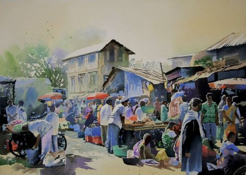 Watercolour Painting by Vikas Patnekar - Doodlewash