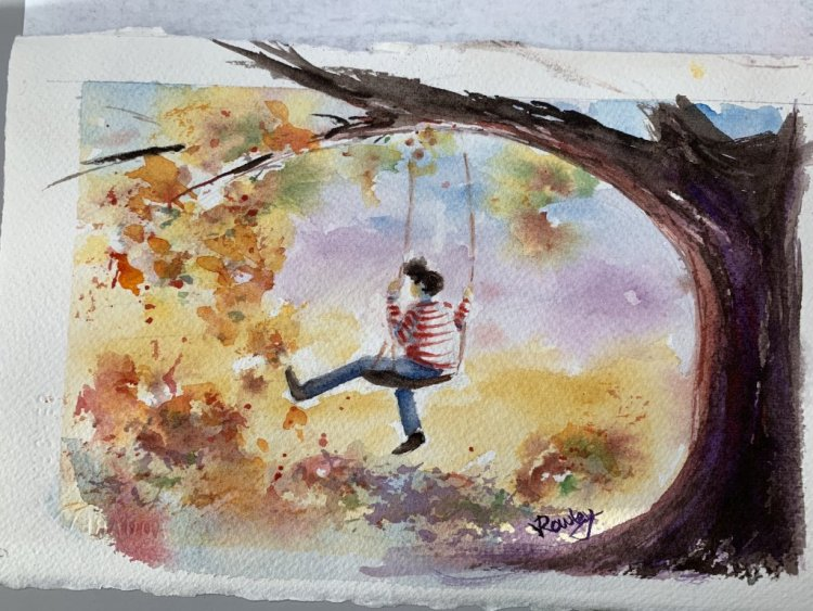 Andrew Geeson tutorial, (loosewatercolours.com) –apropos for kicking up leaves Charlie? kickin