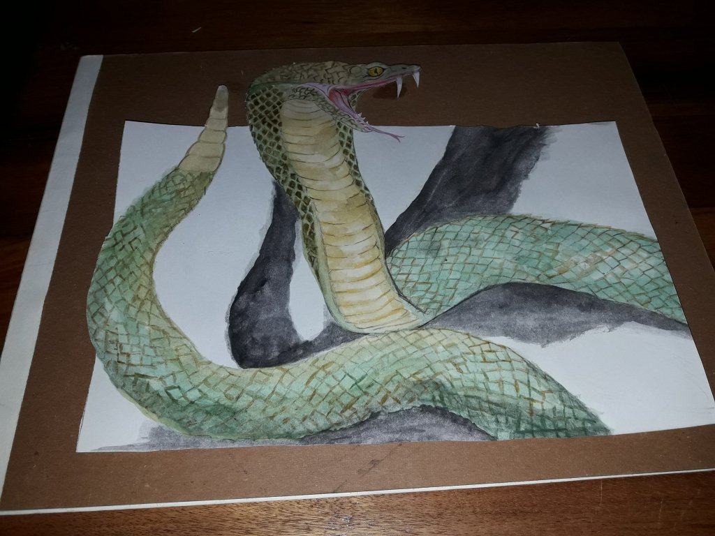 This is the first time i tried making an animal with watercolors 20180530_195848