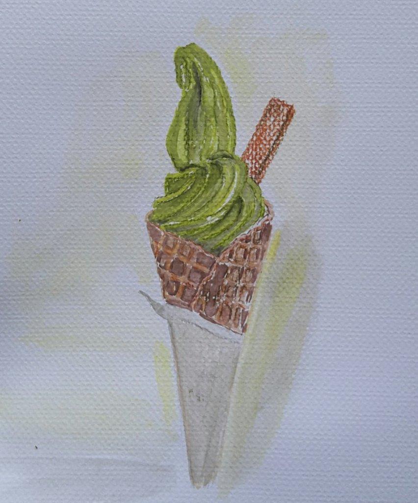 #Sweet Matcha icecream… one of my fav😊 20181128_161841