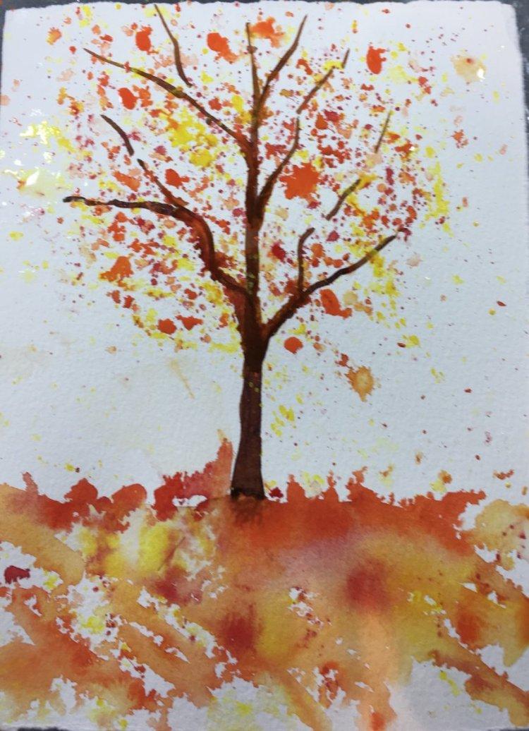 Warm tree Nov.15 challenge, warm colors….red, yellow and orange.41317593-36E1-4E9C-9EC6-AC61D0