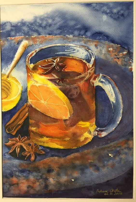Cup Of Tea Watercolor by Carmen Costea - Doodlewash