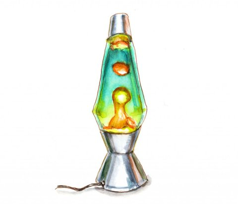 Day 10 Lava Lamp Watercolor- Doodlewash