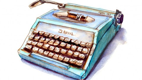 Day 18 - Cool Retro Typewriter Illustration - Doodlewash