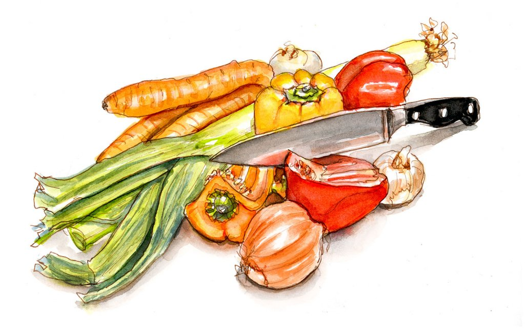 Day 23 - Vegetables Watercolor Organic - Doodlewash