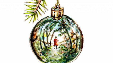 Day 26 - Christmas Ornament Reflection Watercolor - Doodlewash
