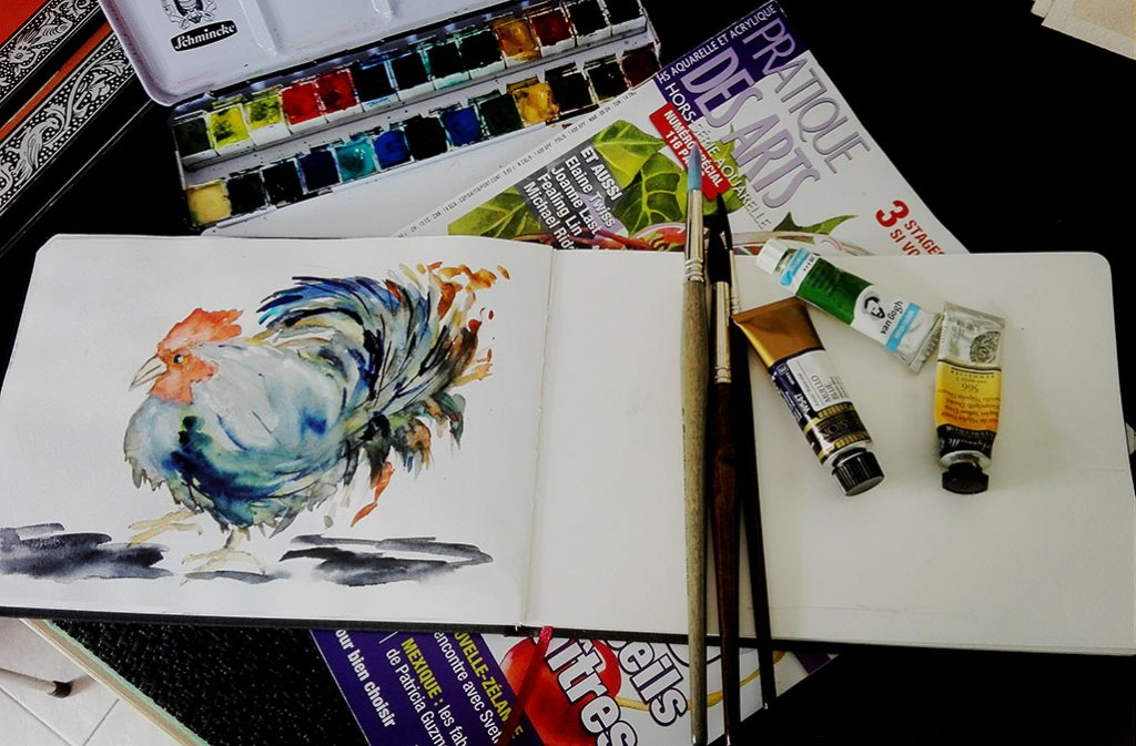 Watercolor Sketch by Margarida Rebelo - Doodlewash