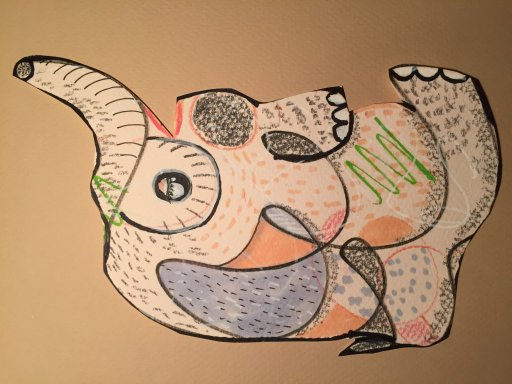 Abstract creatures created from random doodles IMG_9331IMG_9332