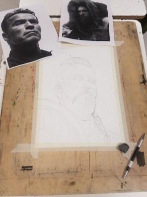Jeff Stone Watercolor Process Doodlewash Step 1