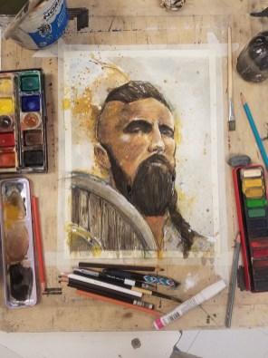 Jeff Stone Watercolor Process Doodlewash Step 4