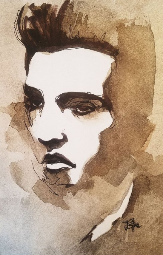 Male Portrait Watercolor By Jeff Stone - Doodlewash
