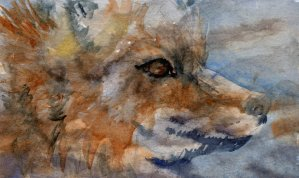 Fox Spirit – The last of my 'spirit' paintings (for now, anyway). I decided to cha