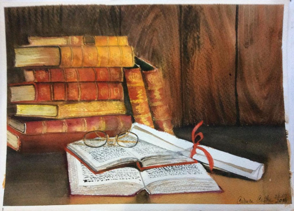 Books Watercolor by Carmen Costea - Doodlewash