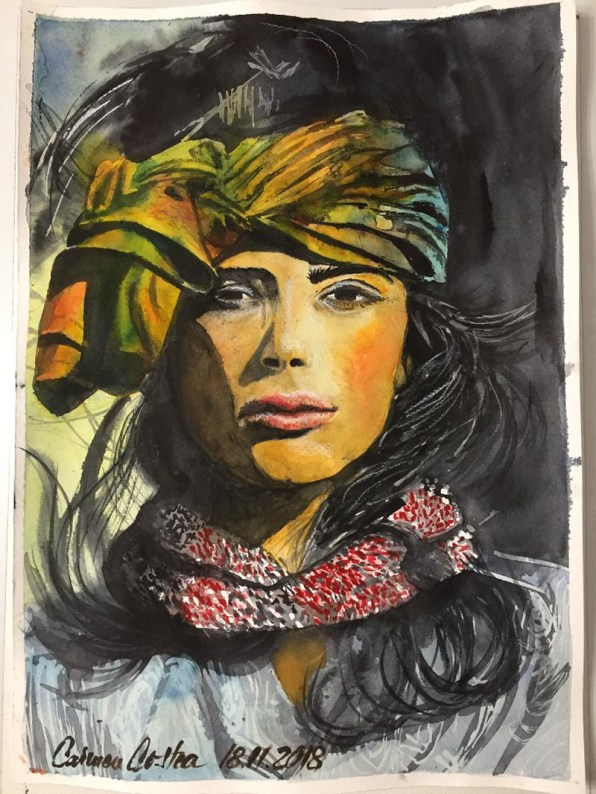 Woman's Portrait Watercolor by Carmen Costea - Doodlewash