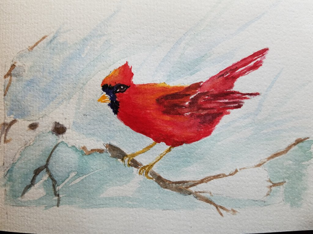 I started painting Christmas cards for family, and every year I add more. Last year I did sell a few