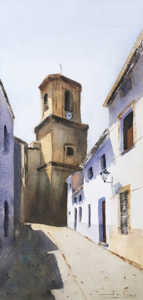 Agudo, Ciudad Real Watercolor by Teresa Santos - Doodlewash