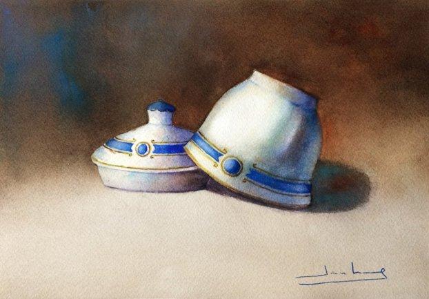 Azucarero Watercolor by Teresa Santos - Doodlewash