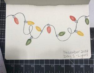 December 2018 challenge day one. I drew Christmas lights. F91B6382-5F9A-4FD7-B0F6-74502727CC32