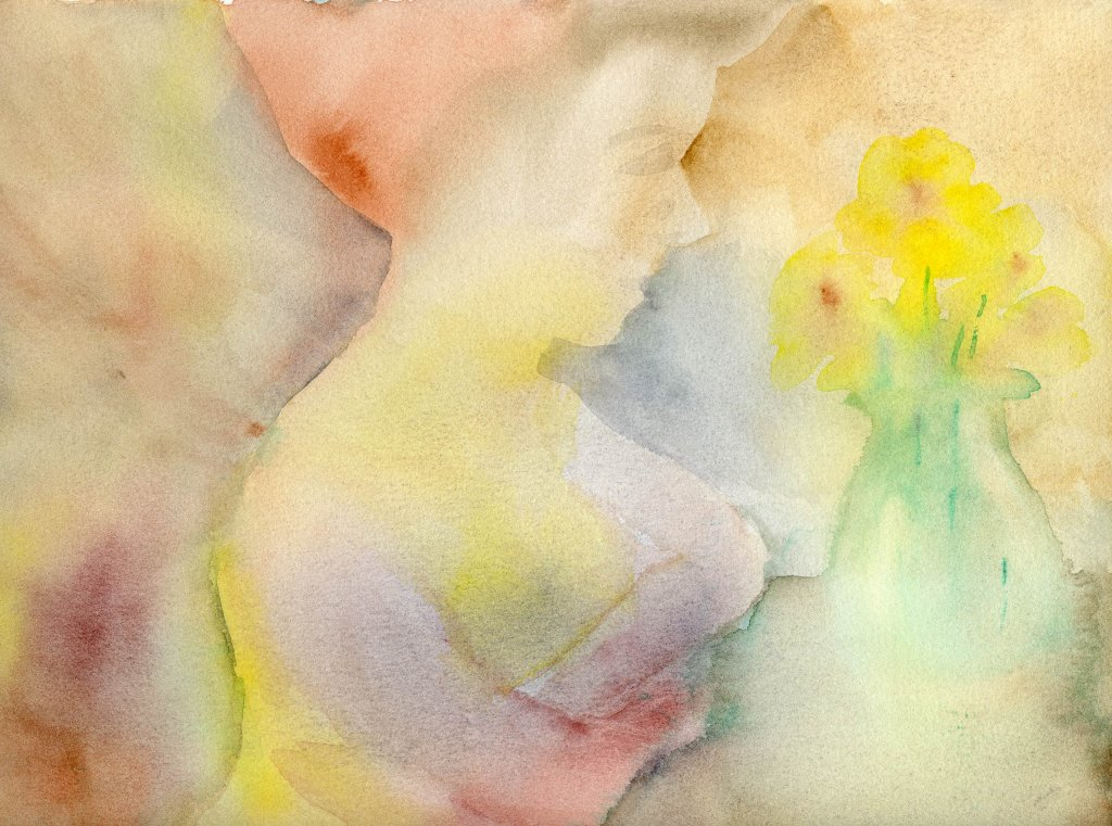 Woman Watercolor Painting by Sandra Strait - Doodlewash