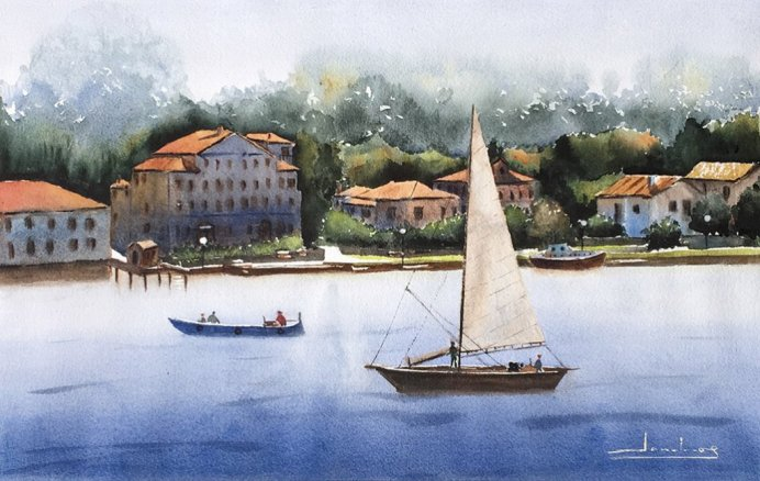 Venecia Watercolor by Teresa Santos - Doodlewash