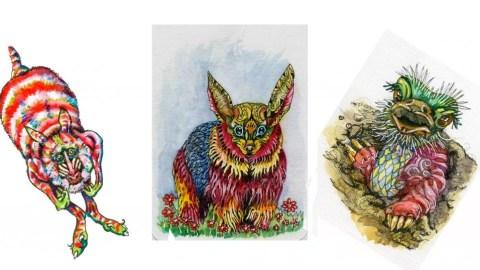 alebrijes acuarela watercolor Doodlewash