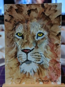 #doodlewashJanuary2019 Prompt Zoo animals, I chose a Lion… 🙂 Happy New Year! 00100dPORTRAIT