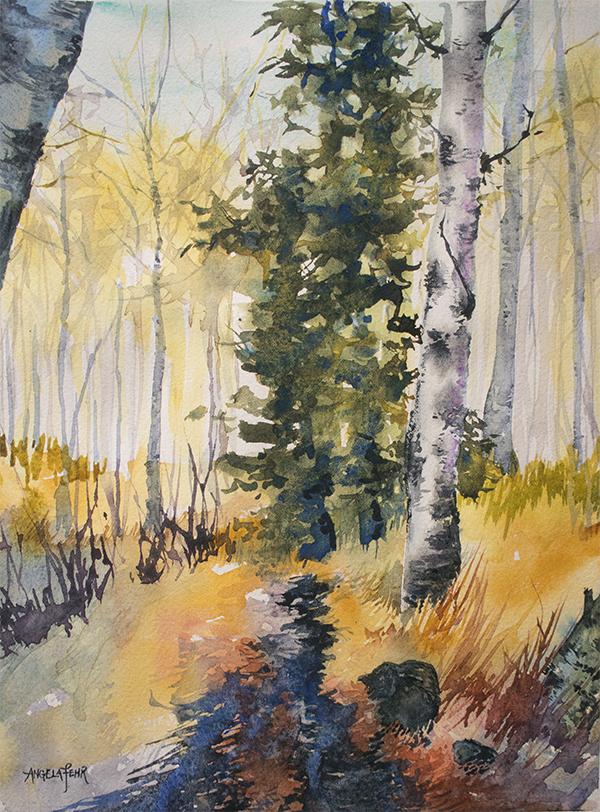 Angela Fehr Landscape Painting - Doodlewash