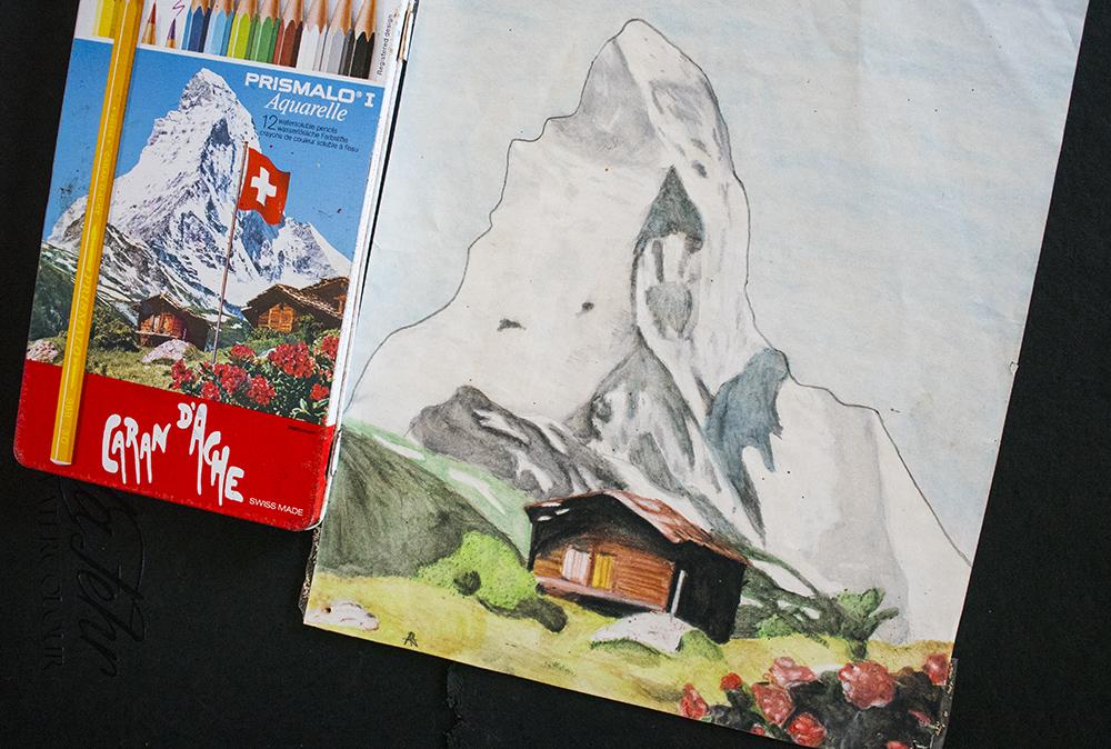 Angela Fehr watercolor pencils painting - Doodlewash