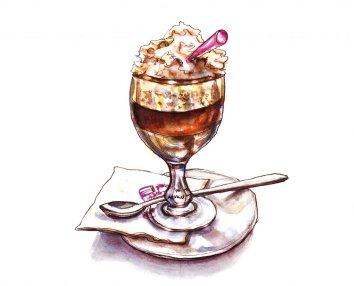 Day 15 - Irish Coffee In Paris Watercolor - Doodlewash