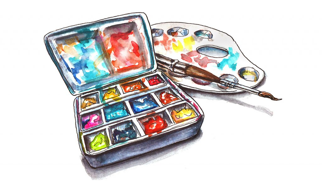 Day 16 - Watercolor Travel Palette Illustration - Doodlewash