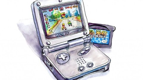 Game Boy Advance SP Watercolor - Day 31
