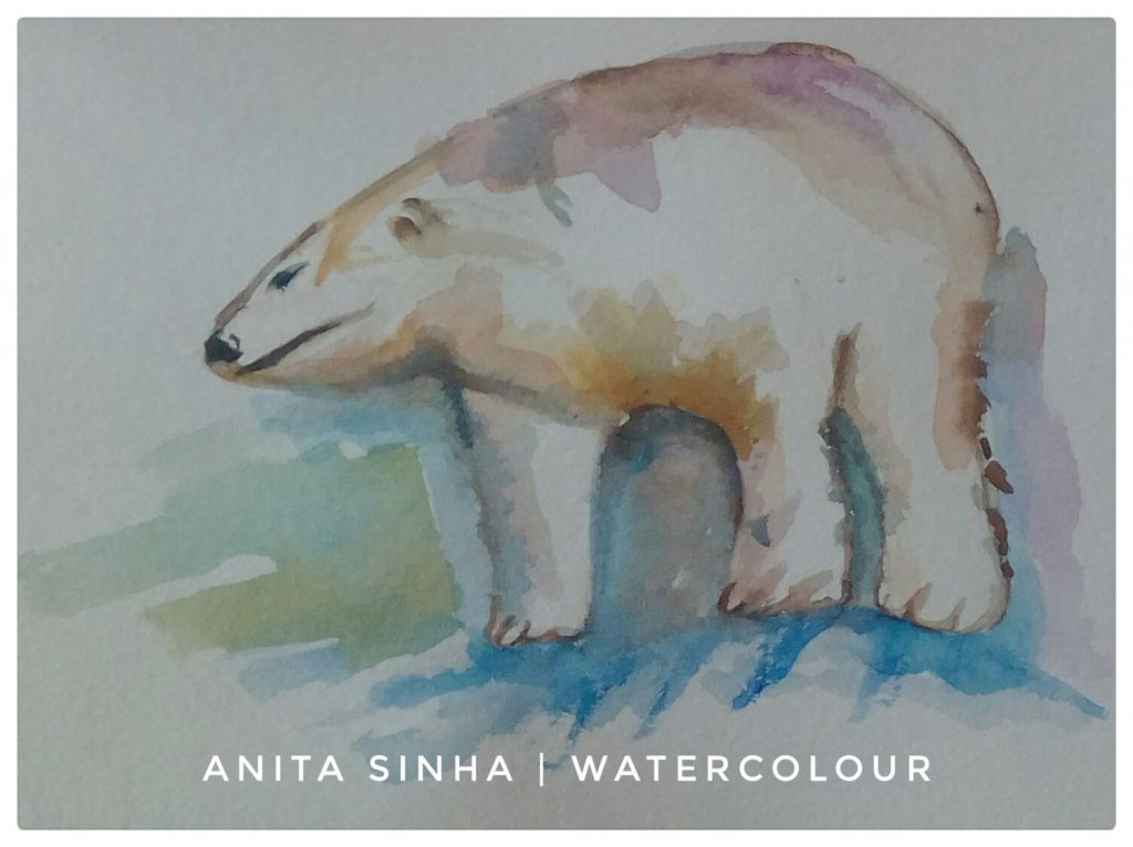 Day 1 – Zoo animals – I had seen a polar bear in Singapore zoo a decade back. #doodlewas