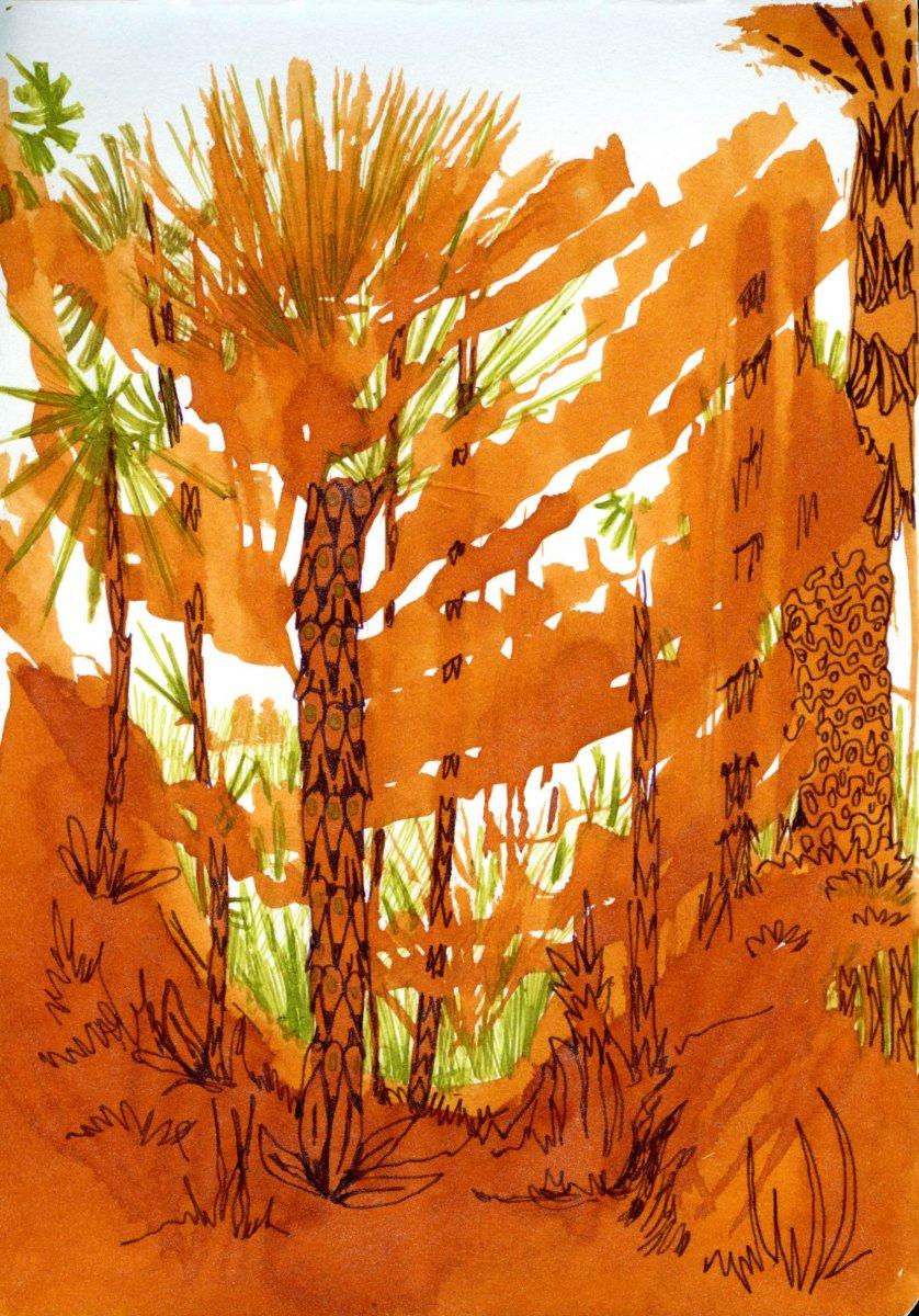Watercolor Wet In Wet Landscape by Sandra Strait