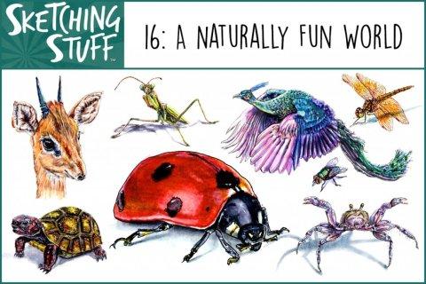 Sketching Stuff Podcast Episode 16 Artwork - Naturally Fun World