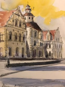 St. Marys Victoria Texas Watercolor By Al Kline - Doodlewash