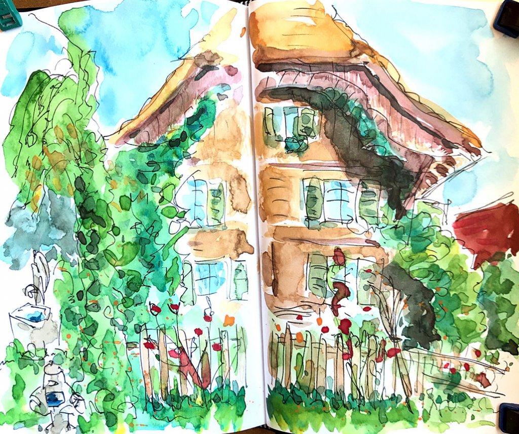 Urban Sketchers Sketching Example Dominik Neuffer 02 - Doodlewash