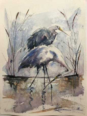 Water Fowl Watercolor By Al Kline - Doodlewash