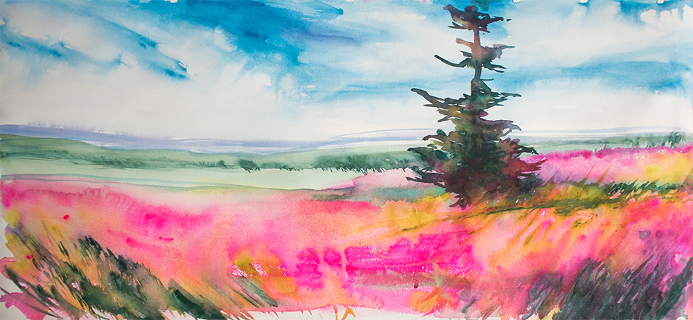 Angela Fehr Watercolor Landscape - Doodlewash