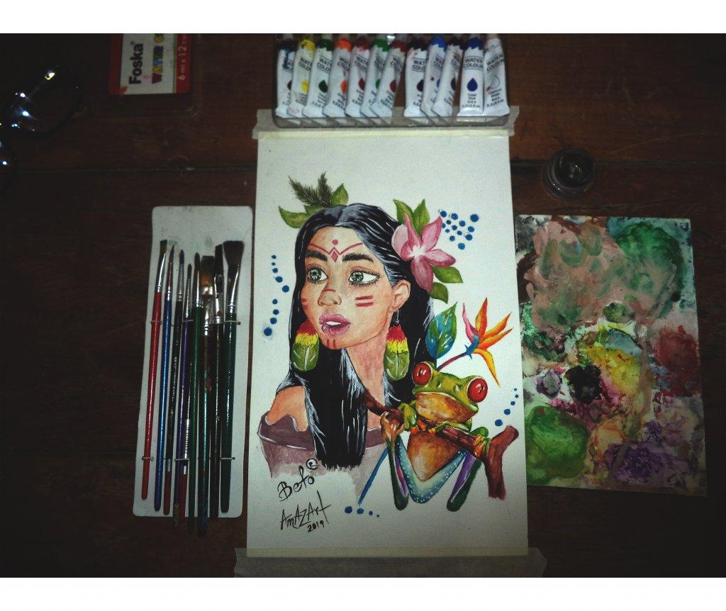 🎨🌿❤🍃✌ La belleza de la mujer shuar, la flora y fauna .. &#x1f3