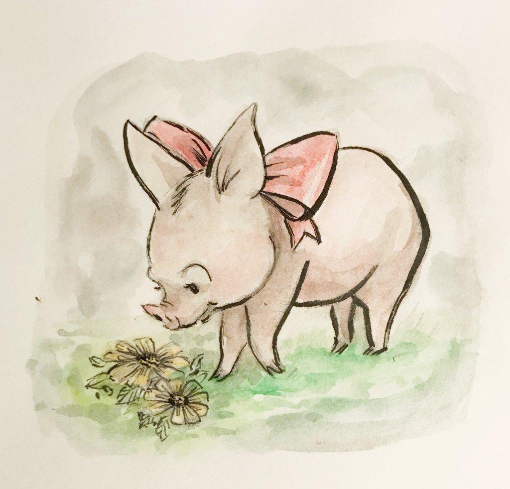 Pig for #doodlewashfebruary2019 AB8B8794-42E9-4B0F-8E3B-0D920DA97BD8
