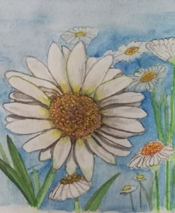 Daisies for today\'s prompt,i can\'t believe i did all 28 prompts! IMG_20190228_174201