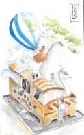 Magnolia Retreat watertercolor sketch Doodlewash challenge 2019 February _Patricia Jacques Day8 WEBS