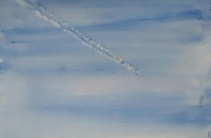 Day 8.. In the sky I love to see the vapour trails left behind by aeroplanes 20190308_204245