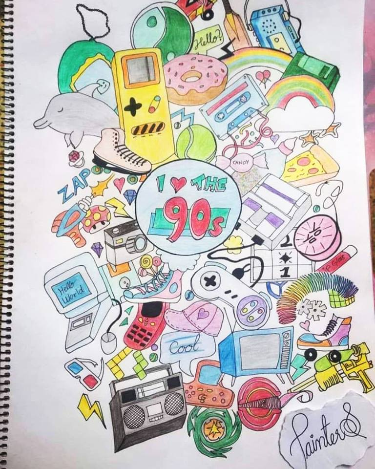 #PainterS #nonstopcreative March : 16 Topic : Favorite Decade My favorite decade is 90s ,i have draw
