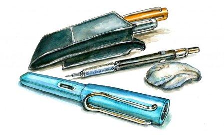 Day 1 - My Sketching Stuff Art Supplies Watercolor