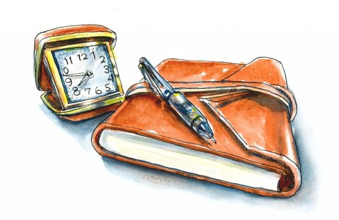 Day 22 - Travel Journal Watercolor Illustration - Doodlewash