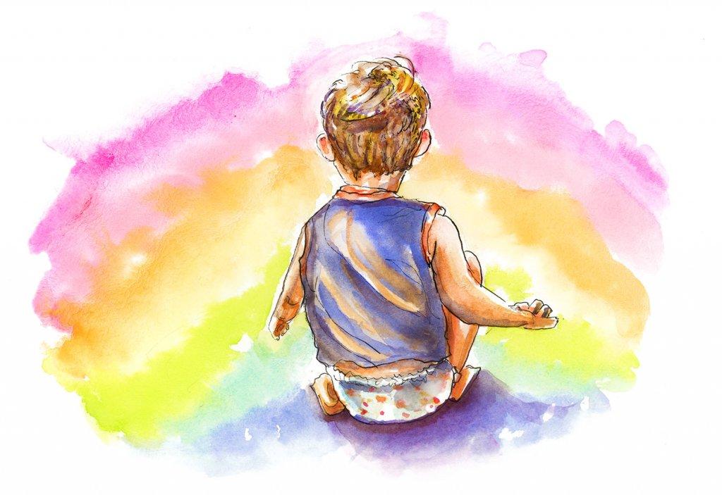 Day 25 - Little Boy Rainbow Illustration - Doodlewash