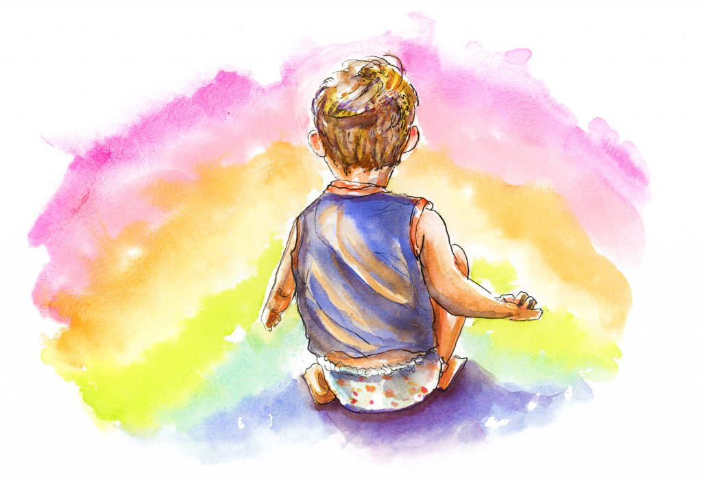 Day 25 - Little Boy Rainbow Illustration - Doodlewash